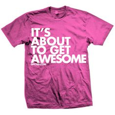 Get Awesome Slim Fit Tee Pink