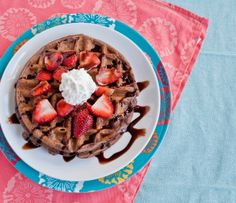 Double Chocolate Waffles with Strawberries and Whipped Cream | Tasty Kitchen: A Happy Recipe Community!