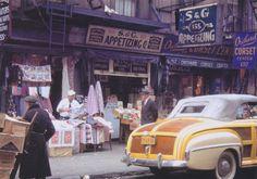 Orchard Street & Rivington Street, New York City, 1949