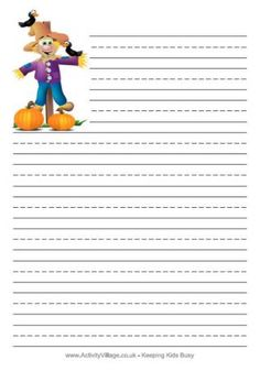Autumn writing papers for kids. Choose blank, handwriting or lined.