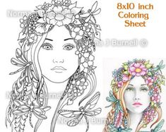 fairy tangles printable coloring book posy collection by norma j burnell 8x10 fairy digital coloring books adults fairies coloring pages - Fairy Coloring Books For Adults