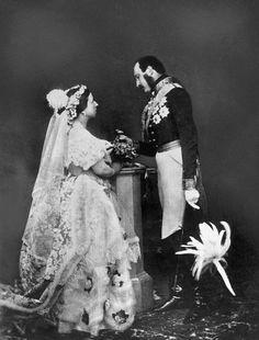 portrait of Queen Victoria and Prince Albert.