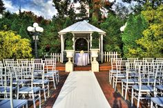 Outdoor wedding setup at Grand Oaks Country Club in Staten Island, New York City.