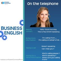 On the telephone, BUSINESS ENGLISH