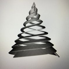 Redefining Christmas decorations. Three of tree spirals - band twisted #madebymagnusgreni