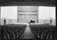 Auditorium, Julliard Music Foundation, NYC, NY Photo by Samuel H. Gottscho, 1931 Image via Museum of the City of New York (Print Available) Art Deco performance hall, now part of the Manhattan School of Music. #ArtDeco #architecture