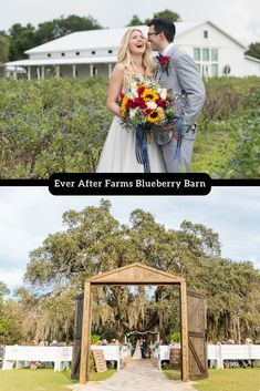 The perfect romantic ambiance for your big day!  Click for pricing and inclusions. #engaged #weddingplanning #everafterfarmsblueberrybarn Blueberry Wedding, Blueberry Farm, Farm Wedding, Rustic Wedding, Epic Pictures, Palm Bay, Wedding Venues, Wedding Ideas, Central Florida
