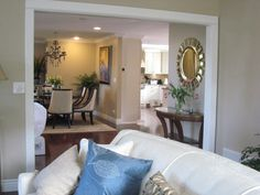 The Dining And Living Room Are Both Wise Owl 42 By Kelly Moore The Trim House Colorswall Colorspaint
