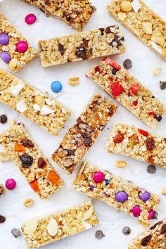 The Perfect Soft Granola Bars (Gluten Free & Vegan) Granola Bar Recipe Easy, Healthy Granola Bars, Chewy Granola Bars, Homemade Granola Bars, Vegan Snacks, Healthy Snacks, Protein Snacks, Healthy Breakfasts, High Protein