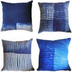 Laura van Erven arashi shibori pillows