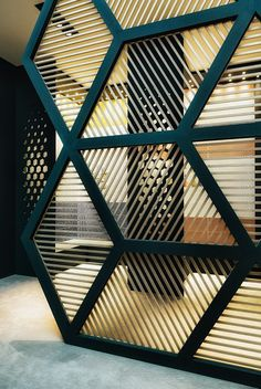 Room Divider - Commercial Interior - Geometric Patterns - Home Decor - Design Trend