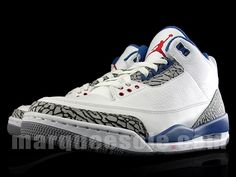 separation shoes f1778 ea16f Air Jordan 3 (III) Retro - White   True Blue