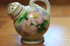Occupied Japan small floral salt shaker by StonesThrowTreasures on Etsy