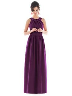 full lenght bridesmaid dresses,  sleeveless bridal party dresses D495 Halter bridesmaid dresses.  Click here for more color options.  20% off 3 of more dresses