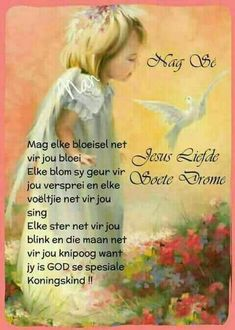 Evening Greetings, Afrikaanse Quotes, Goeie Nag, Goeie More, Prayer Board, Day Wishes, Beautiful Landscapes, Good Night, Poems