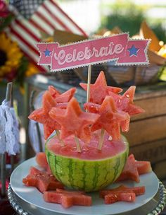 Fun Summertime Watermelon Display