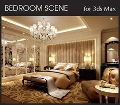 Bedroom Interior Scene for 3ds Max, part 4