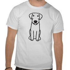 German Wirehaired Pointer Dog Cartoon Tee Shirt