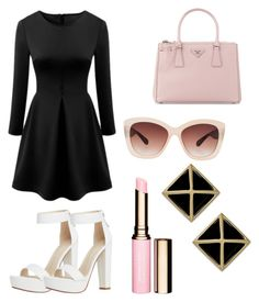"""""""cotton candy"""" by isabellaobrien14 ❤ liked on Polyvore featuring Prada, Eloquii and Clarins"""