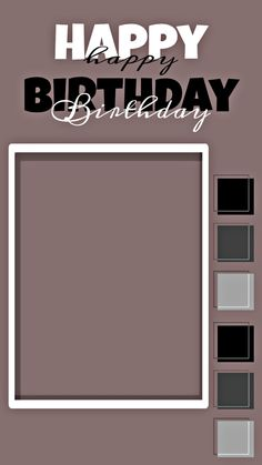 Happy Birthday Template, Happy Birthday Frame, Happy Birthday Posters, Happy Birthday Quotes For Friends, Happy Birthday Wallpaper, Birthday Posts, Birthday Frames, Birthday Captions Instagram, Birthday Post Instagram