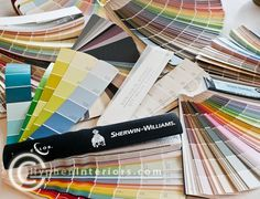 Pick the Perfect Paint Color - Listed by Color @ Hyphen Interiors.  Great blog post on every color of paint!