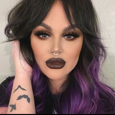 Brown Lip, Septum Ring, Movie Tv, How To Wear, Beauty, Instagram, Beauty Illustration