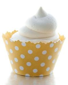 Grab a set of our Yellow Polka Dots Cupcake Wrappers today for any special occassion! Polka Dot Cupcakes, Yellow Cupcakes, Homemade Cake Recipes, Cupcake Recipes, Yellow Party Decorations, Lemon Sorbet, Cupcake Wrappers, Cupcake Liners, Cupcake Party