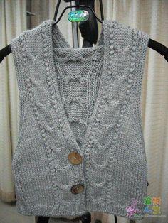Colete em trico(frente)