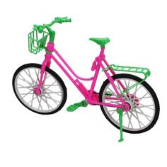 MagiDeal Bicicleta Bici De Barbie Multicolor Plástico Desmontable Barbie Doll Bicycle