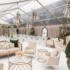 Pretty gorgeous wedding ceremony setup #clear_tent