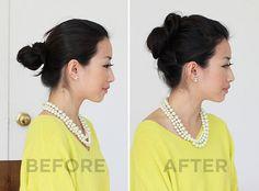 http://www.extrapetite.com/2011/09/hair-tutorial-voluminous-puffy-bun.html#