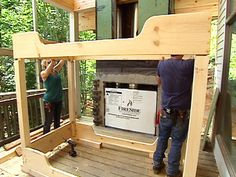 diy bunk bed..I like the sliegh shaped sides instead of rails...casters on the bottom:)(just popped into my brain)