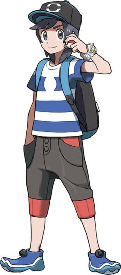 SUN AND MOON RELEASE! The male protagonist!
