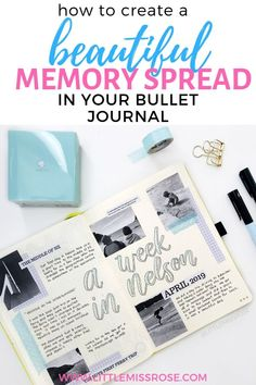 memory spreads are great for capturing those precious memories in your bullet journal. And they're made even better when they include photos. Find out how to create the perfect memory spread for your bujo in this post. Making A Bullet Journal, Bullet Journal Font, Bullet Journal How To Start A, Bullet Journal Junkies, Bullet Journal Spread, Bullet Journals, Printable Planner, Planner Stickers, Printables