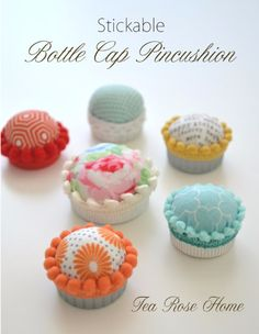 Sewing Crafts To Make and Sell - Stickable Bottle Cap Pincushion - Easy DIY Sewing Ideas To Make and Sell for Your Craft Business. Make Money with these Simple Gift Ideas, Free Patterns, Products from Fabric Scraps, Cute Kids Tutorials http://diyjoy.com/crafts-to-make-and-sell-sewing-ideas
