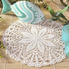 Beautiful and Easy Crochet Doily - Charted not written pattern - c
