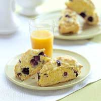 berry lemon scones