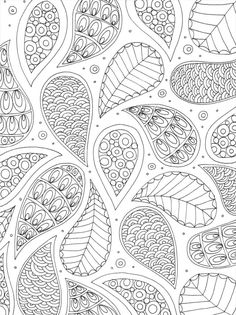 Lizzie Preston - Pattern colouring page for adults