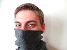 Great for running, skiing, doing errands -- on your head, over your face, or around your neck. Upcycled cashmere Buff Gaiter KITTEN GRAY Cowl Neck Warmer by WormeWoole