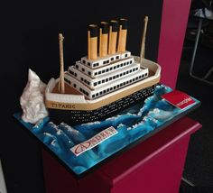 A corporate cake for an event held in Titanic Belfast  yesterday