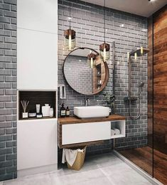 its-my-living:The Definitive Source for Interior Designersits-my-homeliving:Bathroom Inspiration //. its-my-living:The Definitive Source for Interior Designersits-my-homeliving:Bathroom Inspiration //. Best Bathroom Designs, Bathroom Trends, Modern Bathroom Design, Bathroom Interior Design, Modern Bathrooms, Farmhouse Bathrooms, Cool Bathroom Ideas, Small Luxury Bathrooms, Toilet And Bathroom Design