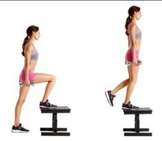 Step Ups - 8 Simple Exercises to Get Rid Of Saddlebags for Women