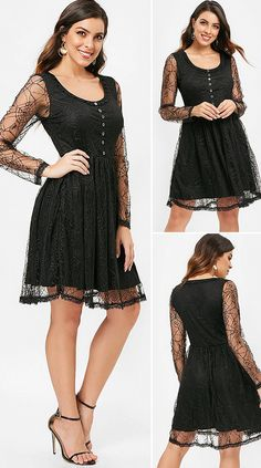 Long Sleeve Spider Web Lace Overlay Dress HOT SALES 2020, beautiful dresses, pretty dresses, holiday fashion, dresses outfits, dress, cute dresses, clothes, classy & elegant, elegant style, mode trends 2020, trending, fashion, fashion looks, moda, women, beautiful, beauty, buy, sale, shop, shopping, vestidos elegantes, vestidos fofos, vestidos bonitos Outfits Dress, Casual Dresses, Fashion Dresses, Holiday Fashion, Party Fashion, Pretty Dresses, Beautiful Dresses, Lace Overlay Dress, Types Of Dresses