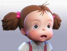 Zbrush, Pop Art Girl, 3d Cartoon, Totoro, Ghibli, Sculpture, Tinkerbell, Emoji, Cute Girls