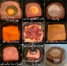 Egg in Hole Breakfast (food network magazine)