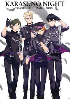 Nights in shining armor.although I am sure that Hinata is the prince and Kageyama is the king Tsukishima Kei, Haikyuu Karasuno, Kageyama Tobio, Haikyuu Fanart, Kagehina, Haikyuu Anime, Hinata, Haikyuu Volleyball, Volleyball Anime