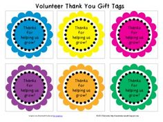 "Thanks for Helping us Grow"" gift tag to any small token of your appreciation or gift bag. ( Free Printables)"