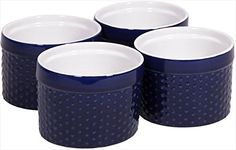 Home Essentials 68644 Mini Stoneware Hobnail Cobalt Ramekins 6 oz *** Check out the image by visiting the affiliate link Amazon.com on image.