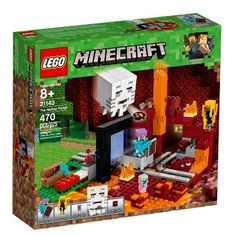 LEGO Minecraft The Nether Portal 21143 Pieces). Features a buildable Minecraft™ Nether setting. Enjoy hands-on Minecraft™ adventures with this LEGO Minecraft set. Lego Minecraft, Minecraft Video Games, Lego Lego, Steve Minecraft, Minecraft Skins, Lego Batman, Minecraft Buildings, Minecraft Toys For Kids, Mojang Minecraft