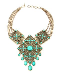 Amrita Singh Plated Resin Necklace